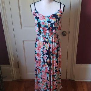 Floral maxi dress S